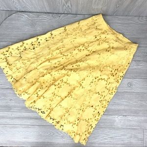 Coldwater creek yellow medium skirt